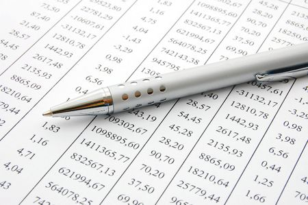 indexes: close up of a chart with a pen