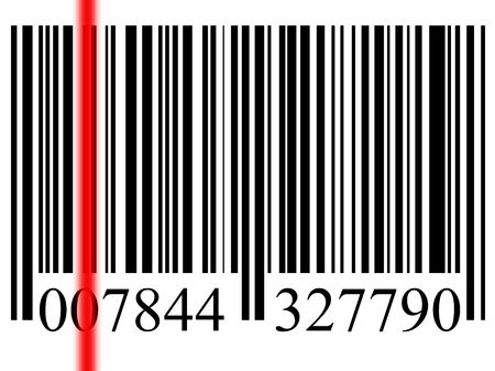 closeup of a bar code isolated on white background Stock Photo - 5710960