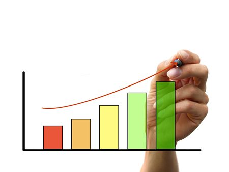 hand draw a chart isolated on white background photo