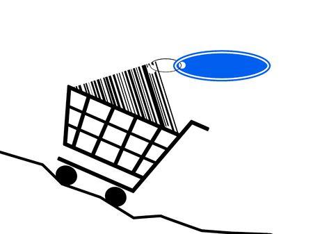 inflation basket: una cesta de la compra escalar el aumento de los precios.