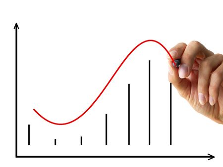 fluctuation: hand drawing a chart. isolated on white background