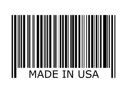 bars code: bar code with the inscription made in USA