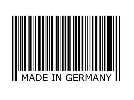 inscription: bar code with the inscription made in germany