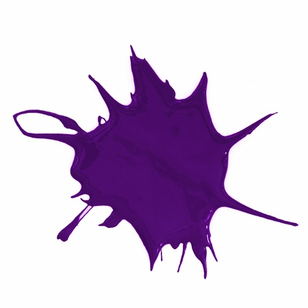 a purple paint splatter isolated on white background