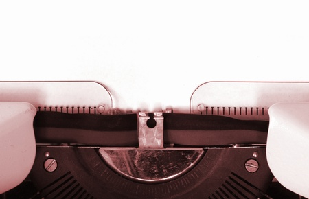 detail of a mechanical typewriter