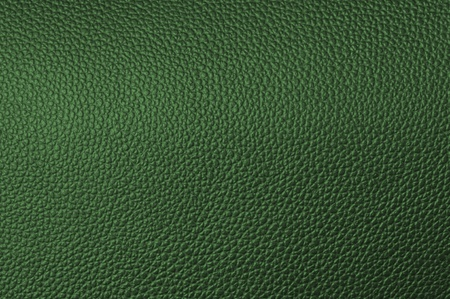 textrured: a natural green leather texture. close up. Stock Photo
