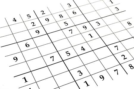 befejezetlen: close up of an unfinished sudoku puzzle Stock fotó