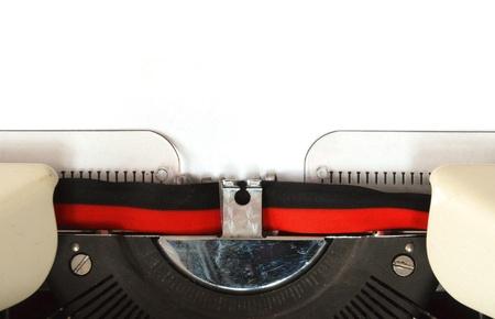 detail of a mechanical typewriter photo