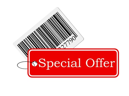 bar code with labeling isolated on white background