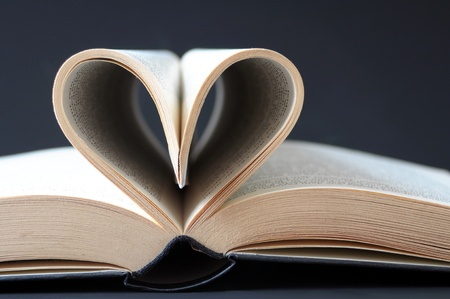 weeding: open book with pages in the form of a heart