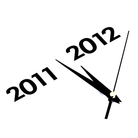 Happy New Year 2012 concept on white background Stock Photo - 11475524