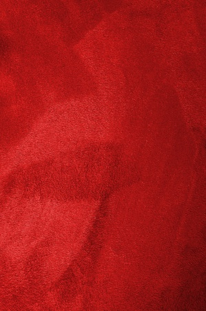 close up of a red coat, fur texture to background Stock Photo - 11475600