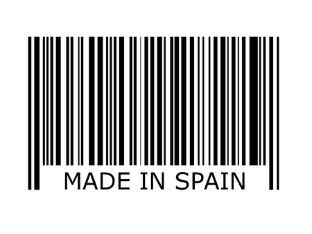 made in spain: bar code with the inscription made in spain