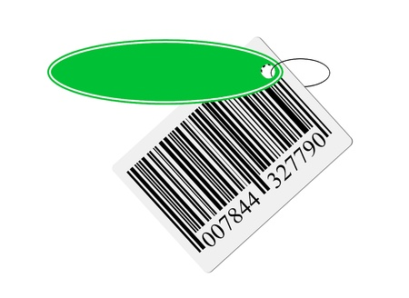 bar code with labeling isolated on white background Stock Photo - 11741648