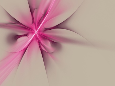 fractal pink: abstract grey, pink rendered fractal graphics for background Stock Photo