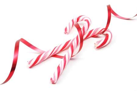 Christimas candy canes isolated on a white background photo