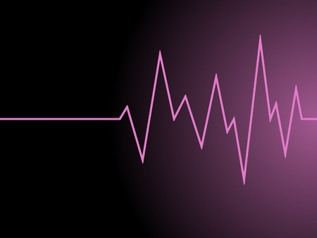 a pink radio wave on black background Stock Photo - 11937955