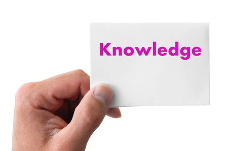 hand holding a card with the word knowledge Stock Photo - 12622263