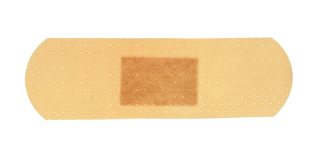 bandaid: medical first aid plaster, isolated on white background