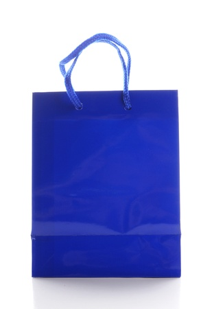 solated: blue bag for shopping solated on white background