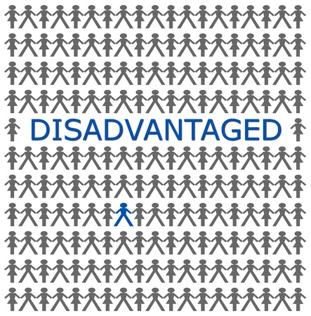 disadvantaged: one person of a group will be discriminated against.