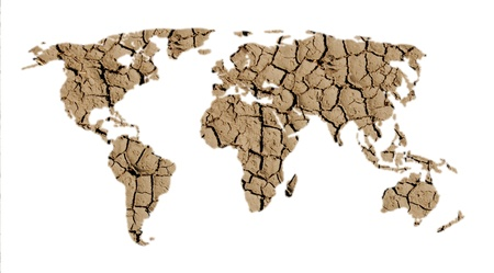 world map of dry land on white background Stock Photo - 13238664