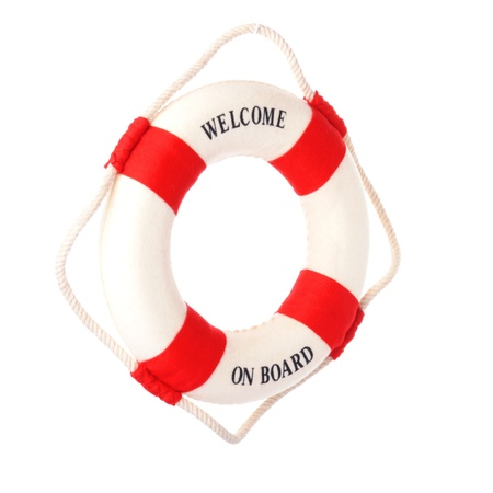 Life buoy with welcome on board on it Stock Photo - 13238283