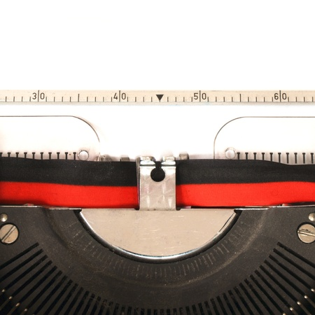 detail of a mechanical typewriter Stock Photo - 13634600