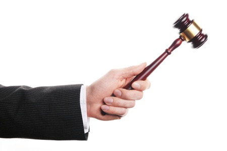 auctioneer: an auctioneer Stock Photo