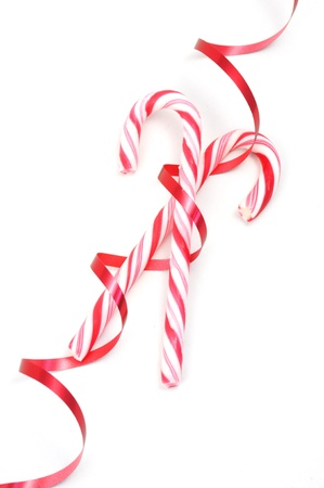 goodie: Christimas candy canes isolated on a white background