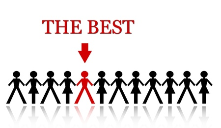 stand out from the crowd, be the best Stock Photo - 13952212