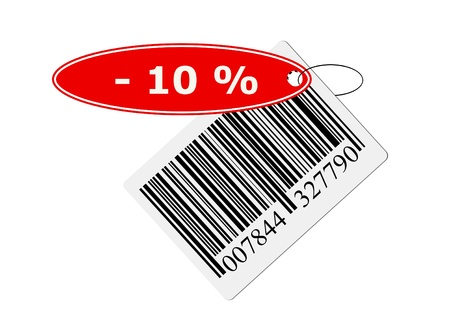 barcode with labeling. isolated on with background.
