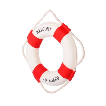 Life buoy with welcome on board on it Stock Photo - 14593737