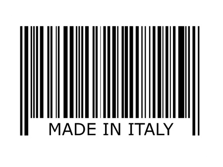 made in: bar code with the inscription made in italy Stock Photo