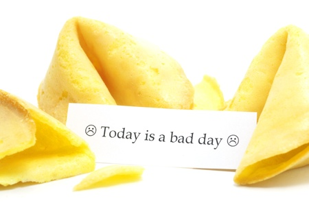 scrying: open fortune cookie isolated on a white background