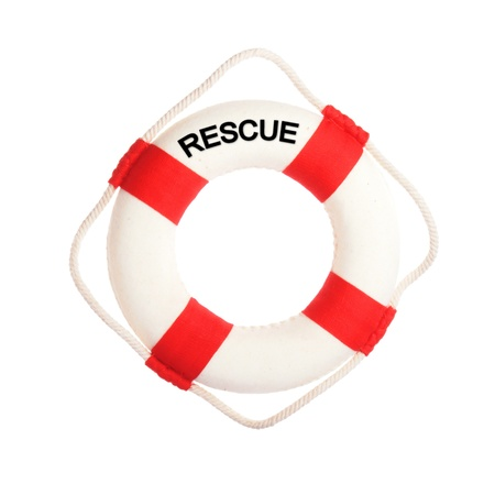 Life buoy with the word rescue on it Stock Photo - 16016142