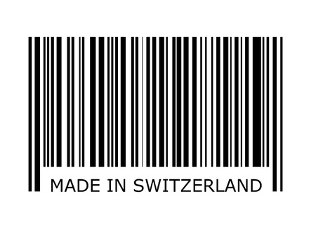 bar code: bar code with the inscription made in switzerland Stock Photo
