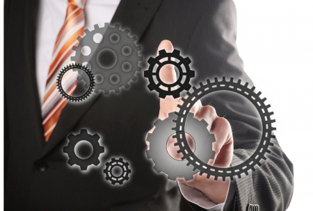 differerent gears, concept for businessman is the driving force Stock Photo - 16332730