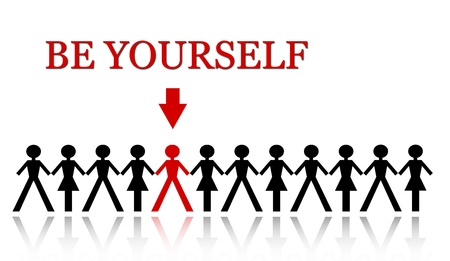 stand out from the crowd, be yourself Stock Photo - 18865166