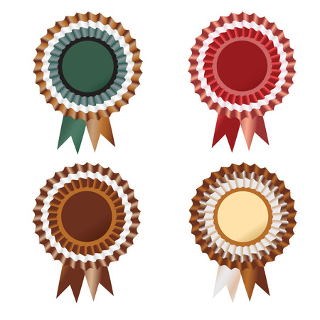 Chocolate medal with cream shades