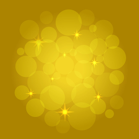 Abstract Bokeh on yellow background Illustration