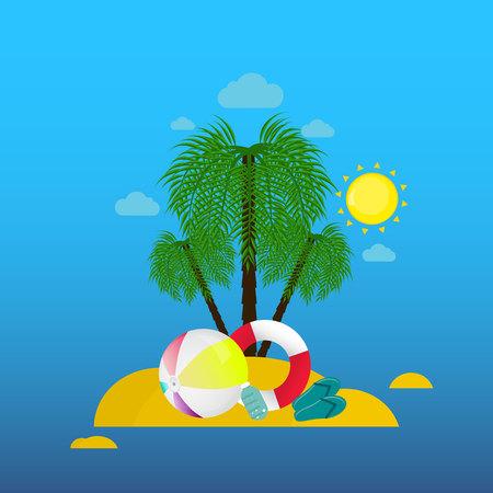 sun cream: Summ Illustration