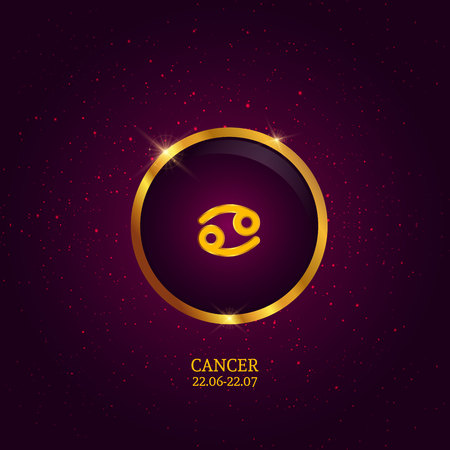 Cancer. Zodiac sign. Horoscope. Zodiac sign. Horoscope. Can be used for calendars, brochures and business cards, modern decoration and etc. Illustration
