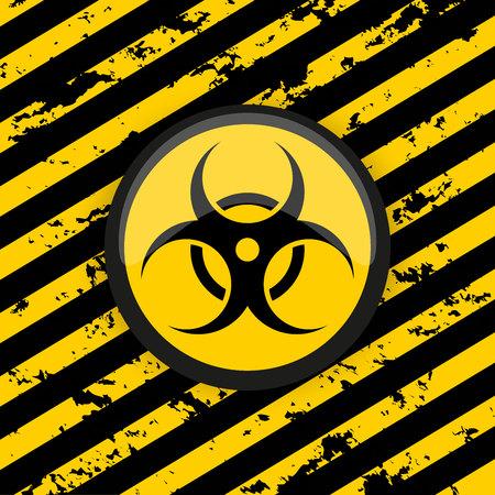 Biohazard. Symbol of biological dangerous on a grunge background. Attention! Vector Illustration