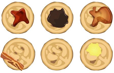 Pancake set Stock Photo