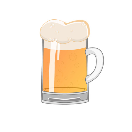 cooled: glass of beer Stock Photo