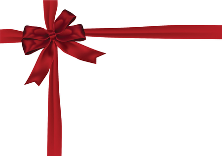 gift giving: Gift Giving sale tag with red ribbon on the white background. vector stock illustration.