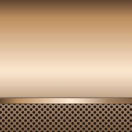 Stainless steel metal plate perforated background. Vector design. Illustration