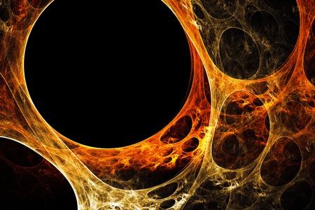 Orange-yellow plasma Stock Photo - 1666828