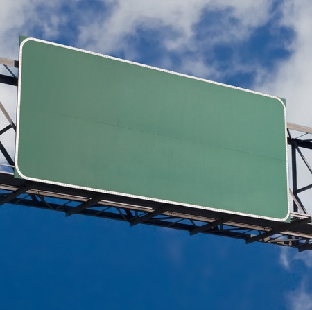 business dilemma: Freeway sign